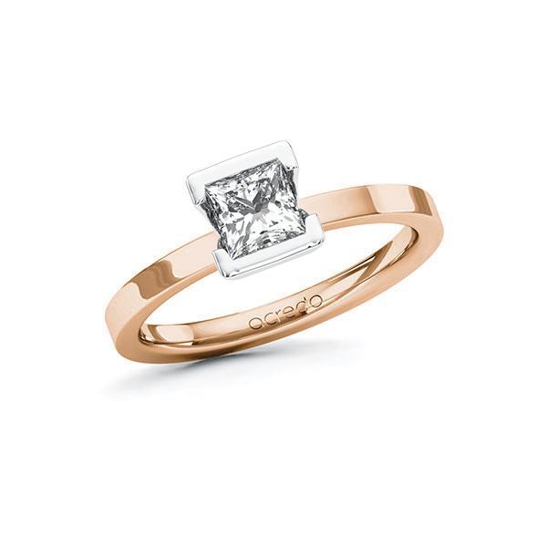 Verlobungsring Diamantring 0,7 ct. G VS Rotgold 585 Weißgold 585