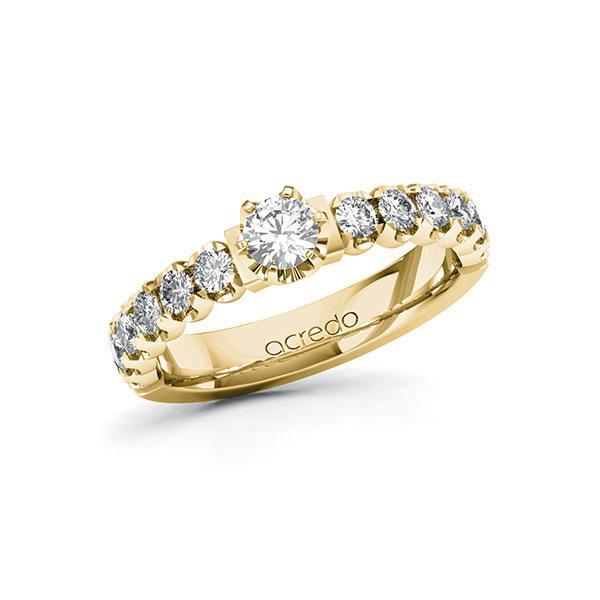 Verlobungsring Diamantring 0,85 ct. tw, si Gelbgold 585
