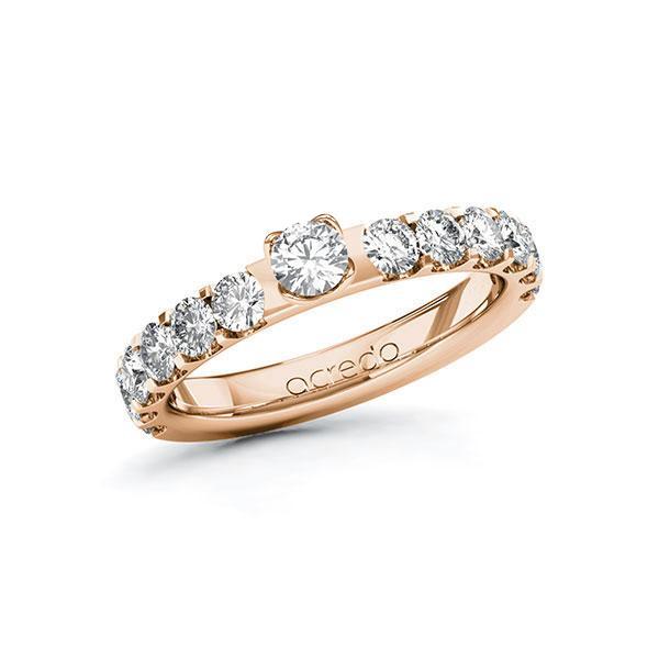 Verlobungsring Diamantring 1,28 ct. tw, si Rotgold 585