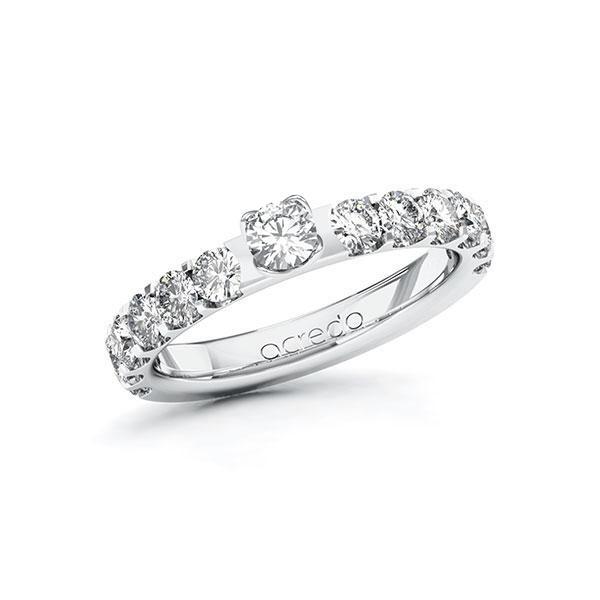 Verlobungsring Diamantring 1,28 ct. tw, si Weißgold 585