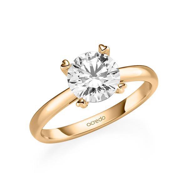 Verlobungsring Diamantring 1,5 ct. G SI Roségold 585