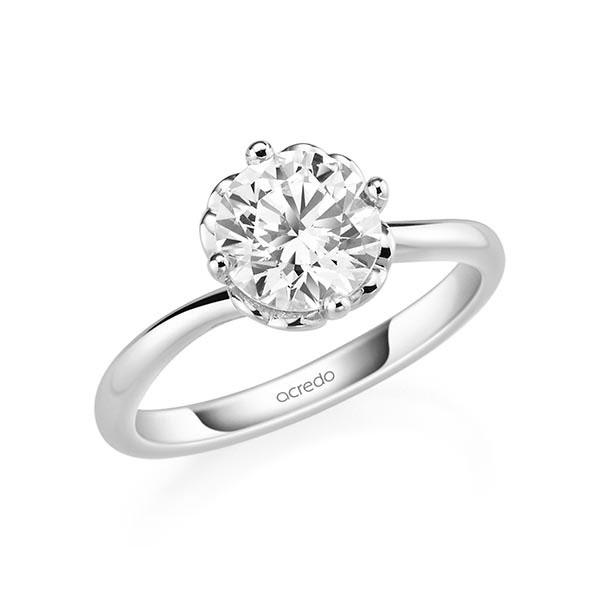Verlobungsring Diamantring 1,5 ct. G SI Weißgold 585