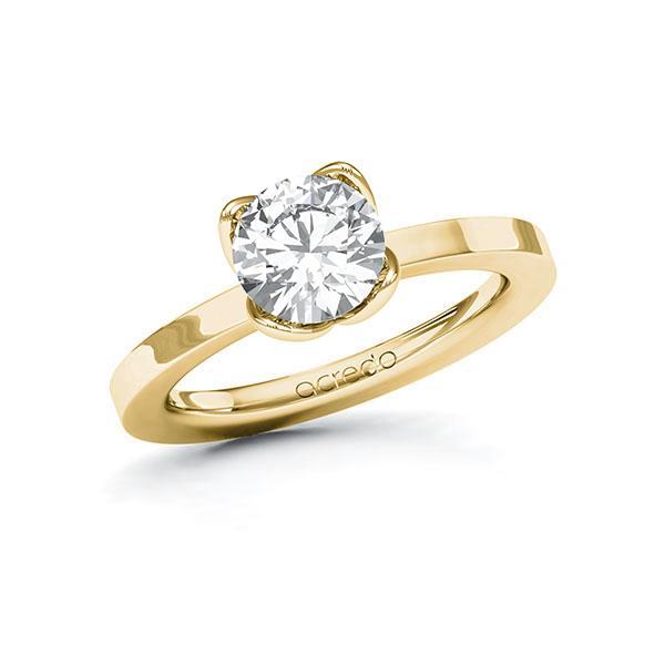Verlobungsring Diamantring 1,5 ct. G VS Gelbgold 585
