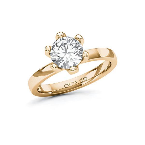 Verlobungsring Diamantring 1,5 ct. G VS Roségold 585