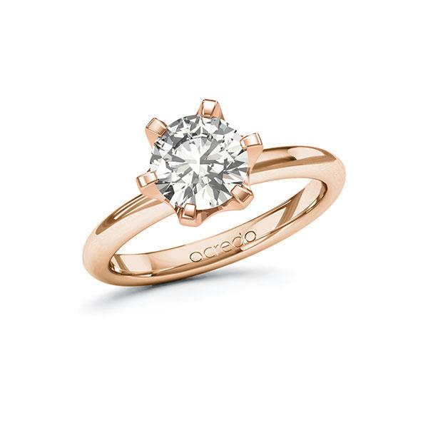 Verlobungsring Diamantring 1,5 ct. G VS Rotgold 585