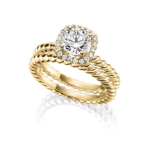 Verlobungsring Diamantring 1 ct. tw, vs Gelbgold 750