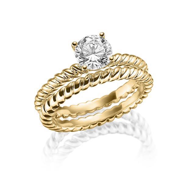 Verlobungsring Diamantring 1 ct. tw, vs Gelbgold 750 Steinberg - Individuals