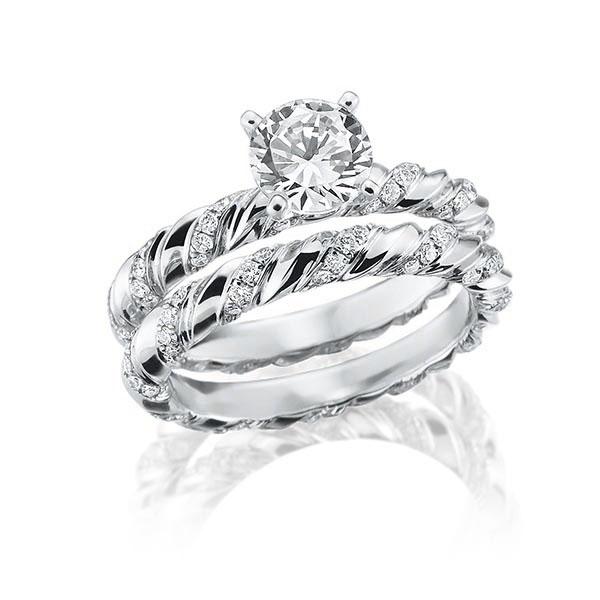 Verlobungsring Diamantring 1 ct. tw, vs Weißgold 750