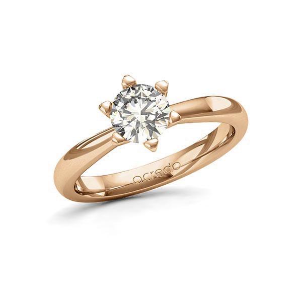 Verlobungsring Diamantring 1 ct. G SI Roségold 585