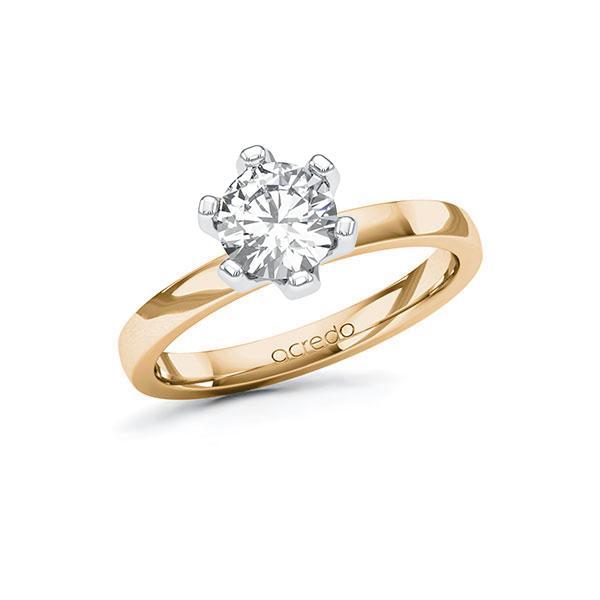 Verlobungsring Diamantring 1 ct. G SI Roségold 585 Weißgold 585