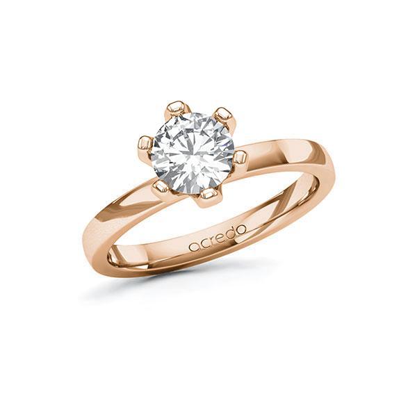Verlobungsring Diamantring 1 ct. G SI Rotgold 585