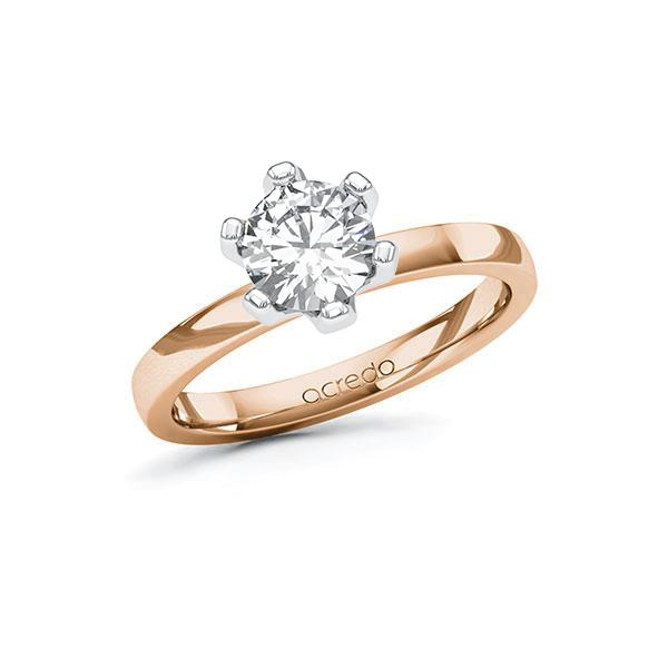 Verlobungsring Diamantring 1 ct. G SI Rotgold 585 Weißgold 585