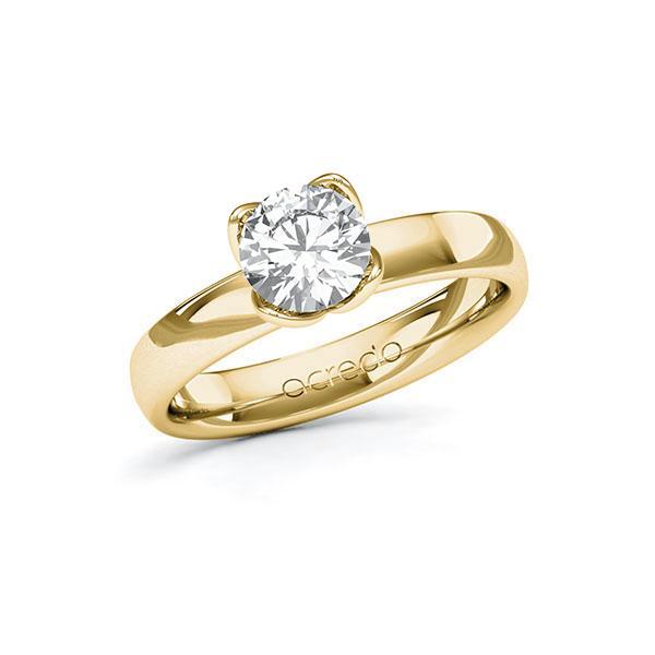 Verlobungsring Diamantring 1 ct. G VS Gelbgold 585