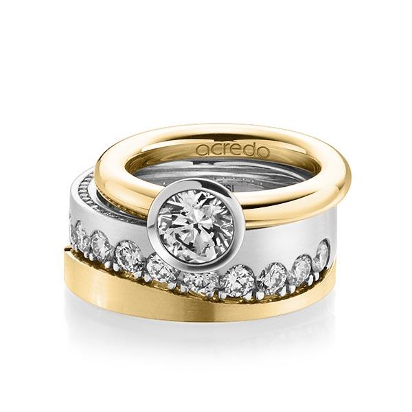 Verlobungsring Diamantring 1 ct. G VS Gelbgold 750 Weißgold 750