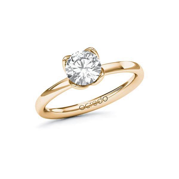 Verlobungsring Diamantring 1 ct. G VS Roségold 585