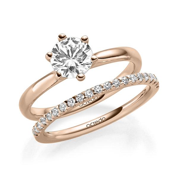 Verlobungsring Diamantring 1 ct. G VS Rotgold 585