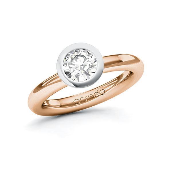 Verlobungsring Diamantring 1 ct. G VS Rotgold 585 Weißgold 585