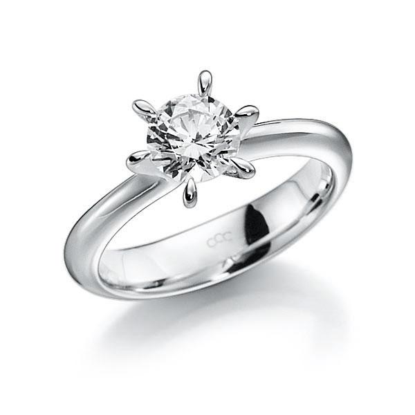 Verlobungsring Diamantring 1 ct. G VS Weißgold 585