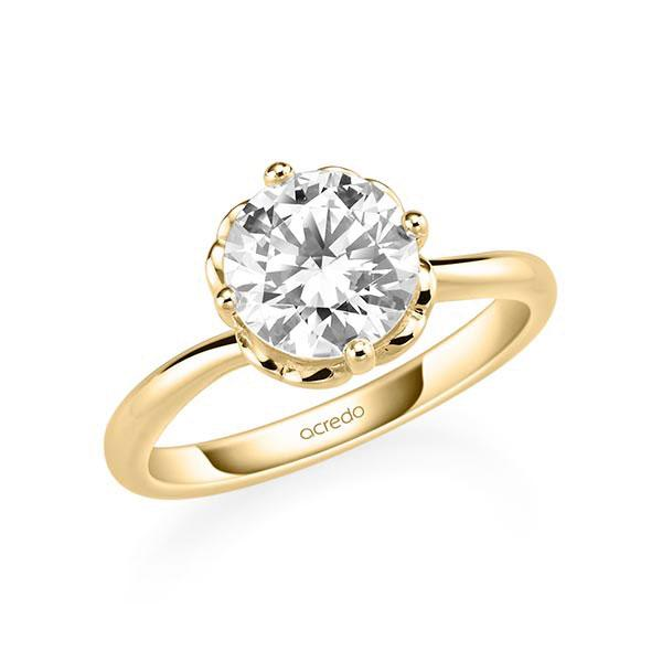 Verlobungsring Diamantring 2 ct. G SI Gelbgold 585