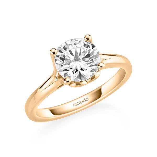 Verlobungsring Diamantring 2 ct. G SI Roségold 585
