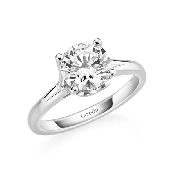 Verlobungsring Diamantring 2 ct. G SI Weißgold 585