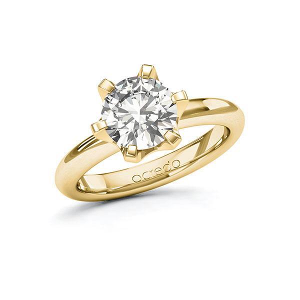Verlobungsring Diamantring 2 ct. G VS Gelbgold 585
