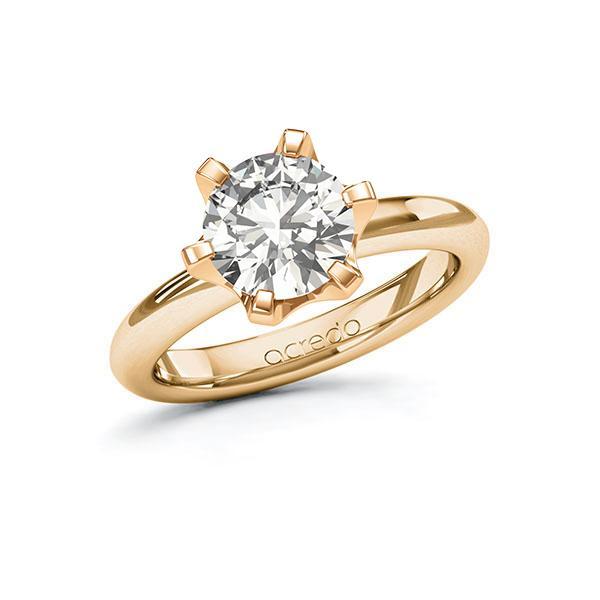 Verlobungsring Diamantring 2 ct. G VS Roségold 585