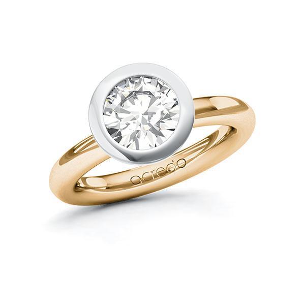 Verlobungsring Diamantring 2 ct. G VS Roségold 585 Weißgold 585