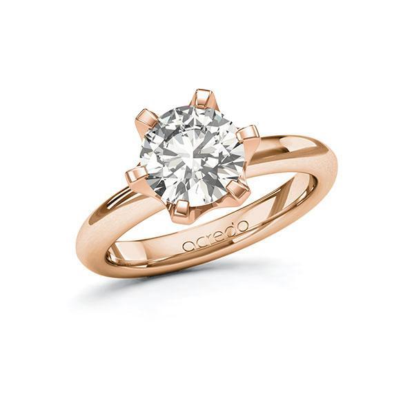 Verlobungsring Diamantring 2 ct. G VS Rotgold 585