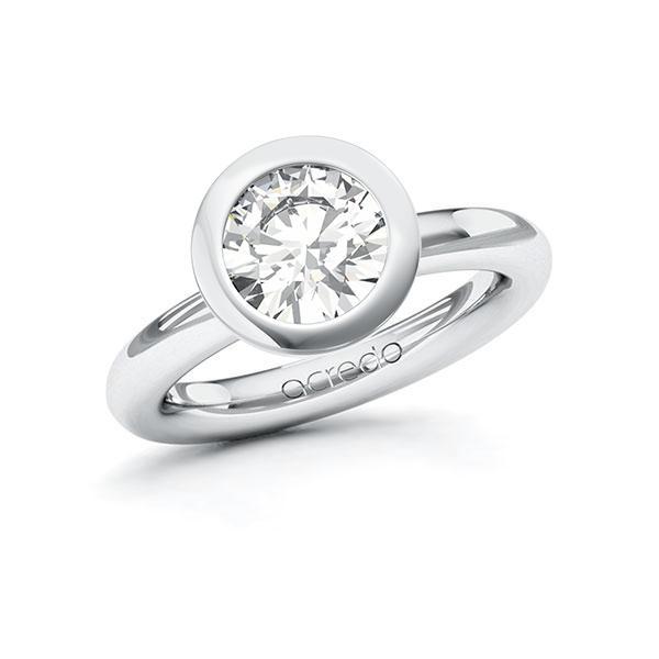 Verlobungsring Diamantring 2 ct. G VS Weißgold 585